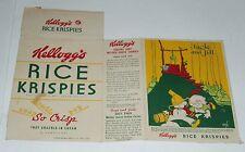 1938 Kelloggs Rice Krispies Cereal Box w/ Vernon Grant fairytale back Jack & Jil