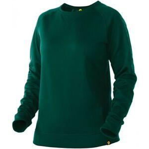DeMarini Women's Heater Fleece Pullover DARK GREEN MD