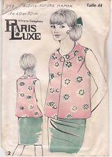Patron Ancien Paris Luxe Femme n°911 - Blouse Future Maman sans manche Taille 44