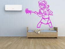 Lacrosse Wall Decal Sport Home Vinyl Sticker Girl Decor Mural Logo Nursery F1382