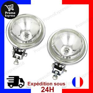 """2 avant Pare-Buffle Chrome Feux Jour Lampe 6 /"""" Norme E 12V 55W H3 Camion Auto"""