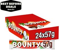 Bounty Dark Chocolate Twin Chocolate Bars - 24 x 57g - BBE 05/09/21