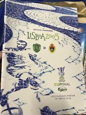 UEFA CUP FINAL 2005 CSKA MOSCOW v SPORTING LISBON MINT PROGRAMME