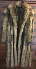 Long Genuine Coyote Fur Coat Gently used Fit Women's Small Men's XS