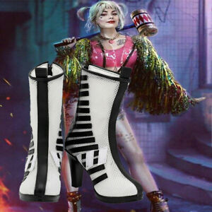 Birds of Prey Harley Quinn Cosplay Long Boots Handmade Custom Made