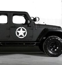 Army style Decal sticker For Jeep Wrangler RUBICON Star USMC Military LIft kit