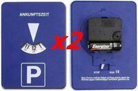 lot 2 Disques stationnement automatique avec horloge / zone bleue - Parkscheibe