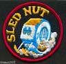 Vintage Snowmobile Patch Funny SLED NUT!! Ski Snowboard 1960's 1970's  SKIDOO