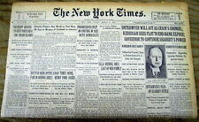 1931 NY Times newspaper w ALBERT EINSTEIN letter praising the US after his visit