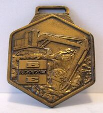 Bucyrus Erie BE Hydraulic Excavator Backhoe Brass Pocket Watch Fob Collectible