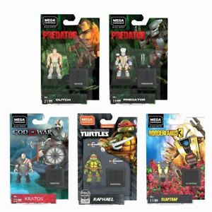 Mega Construx Heroes Wave 2 Mini-Figures Set of 5. TMNT, Predator, Borderlands,