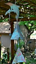 Vintage Cast Bronze & Copper Dolphin Cause Bell by Paolo Soleri Arcosanti
