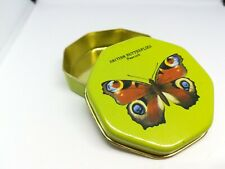 British Butterfly Peacock - Tin Container Storage - Green - Aluminium