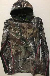 NWT WOMEN UNDER ARMOUR 1247093 340 EVO SCENT CAMO CG INFRARED FITTED HOODIE $90
