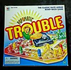 MTB Boardgame Pop-O-Matic Trouble (1998 Ed) VG box corner ding, missing inst.