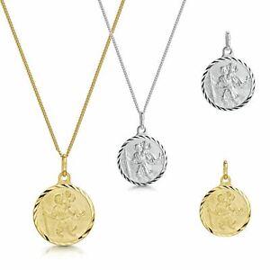 Amberta 925 Sterling Silver Pendant St Christopher Coin Travelers Medallion