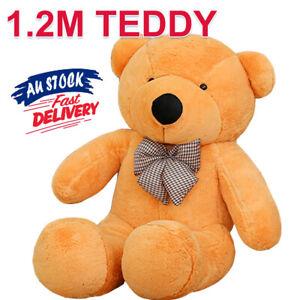 1.2M Animal Gift Teddy Bear Cuddly Doll Brown Stuffed Giant Plush Christmas ACB#