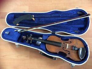 ***********   alte restaurationsbedürftige Geige mit Geigenkasten   ***********