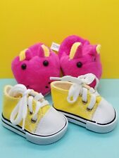 For American Girl Yellow Canvas Sneakers Tennis Shoes & Slippers Hot Pink