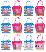 12 Bags Peppa Pig Goodies Bag Favor Birthday Party Loot Gift Bags Supplies