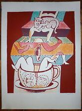 Weis Hugh Lithographie originale signée numérotée art abstrait abstraction