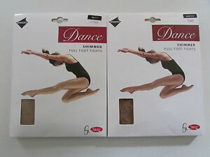 Silky Chidrens Girls Full Foot Shimmer Dance / Ballet Tights (017)
