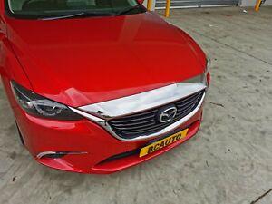 Chrome Hood Bonnet Lip Edge Cover Protector Garnish for Mazda 6 GJ GL 2013-21