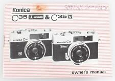 Konica C35 And C35V Owners Manual
