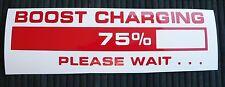 adesivo Boost Charging sticker decal turbo turbina STI S13 S14 garrett IHI