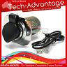 12V STAINLESS STEEL S/S CIGARETTE LIGHTER POWER SOCKET ADAPTER -BOAT/CARAVAN/4x4