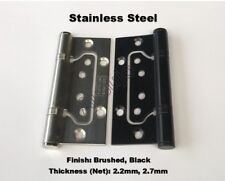 "Stainless Steel Non Mortise Mortice Hirline 4"" 100mm Butt Door Hinge Flush Black"