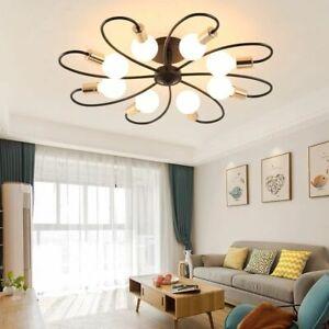 E27 Black White Led Ceiling Chandelier Light Lusters Lamp Living Room Bedroom