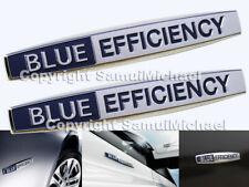 2 X MERCEDES BLUE EFFICIENCY CHROME BADGE LETTERING A2048177220