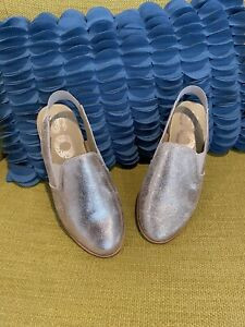 Sorel Ella Metallic Slingback Flats Rose Gold Pink Size 6 NEW NWOB Leather Mule