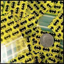 3 Mil 175175 Batman Design Original Apple Baggies Top Quality Ziplock 100 Bags