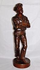 "Bronze Figurine Sailor Boy ""La Gigue""  Jean Signed J. Garnier, 16"" Tall, 6215"