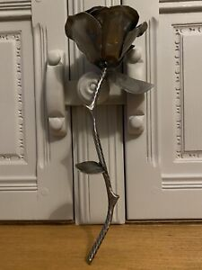 Metal Hand Forged Rose Flower