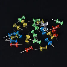 100x MultiColour Translucent Assort Push Pin Drawing Cork Board Office Decor RE