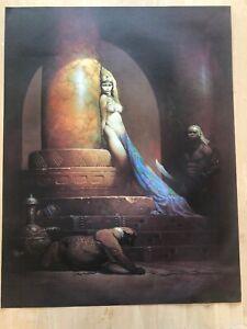 FRANK FRAZETTA Egyptian Queen  FANTASY Litho PRINT 17 X 22 Vintage Prints #21