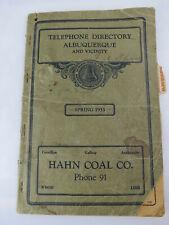 Scarce ! 1933 Albuquerque NM Telephone Directory Chavez famous politicians