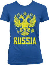 Russia Symbol Russian Distressed Country From Born Rossiya RUS Juniors T-Shirt