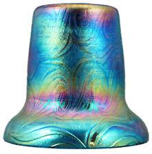 Fingerhut in XXL aus Glas, in Jugendstil in der Farbkombi blau-türkis - AE 536