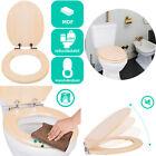 SAINOS Wc Sitz Mit Absenkautomatik Toilettendeckel MDF Holzkern Bambus WC DECKEL