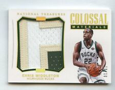 Khris Middleton 2017 National Treasures Colossal Materials Patch #/10