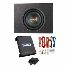Boss Audio 12 Inch 1000W Subwoofer + Shallow Enclosure + Amplifier & Wire Kit