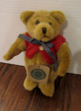 "Boyds Bears 8"" plush from The Archive Collection -- unnamed w/ red sweater/vest"