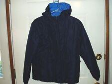 """Boy's, """"HOODED REVERSIBLE WINTER JACKET"""", size 12/14, Blue & Light Blue, warm!!"""