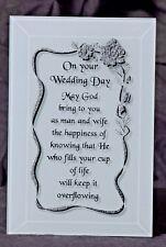A Gift for Wedding - A Wedding Keepsake Plaque