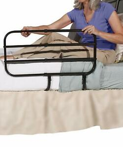 Able Life Bedside Extend-A-Rail - Adjustable Adult Home Safety Bed Rail + Handle