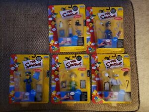 Playmates Toys The Simpsons World of Springfield Series 7 (5) Figure Lot
